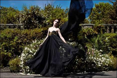 Diaphanous Black Gowns