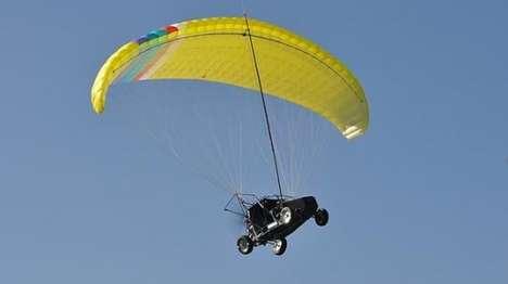 Parachute-Powered Vehicles