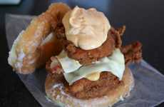 Cholesterol-Boosting Burgers - The Fried Chicken Luther Double Down Sandwich