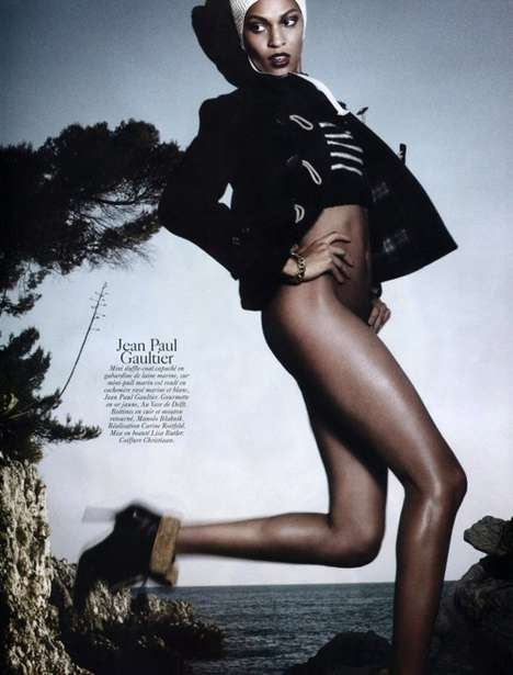 This Vogue Paris August 2010 Spread Showcases Hot Black-and-White Styl