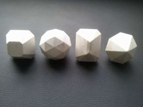 Faceted Marble Rings