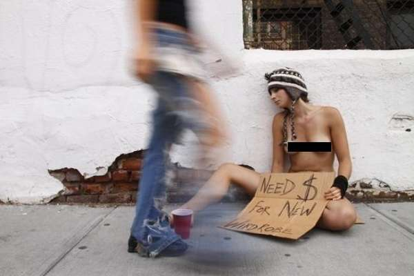 Birthday Suit Beggar Art