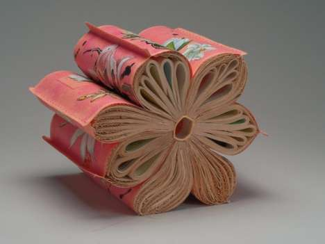 Flowering Book Sculptures - Jacqueline Rush Lee Creates a Novel Form of Narrative