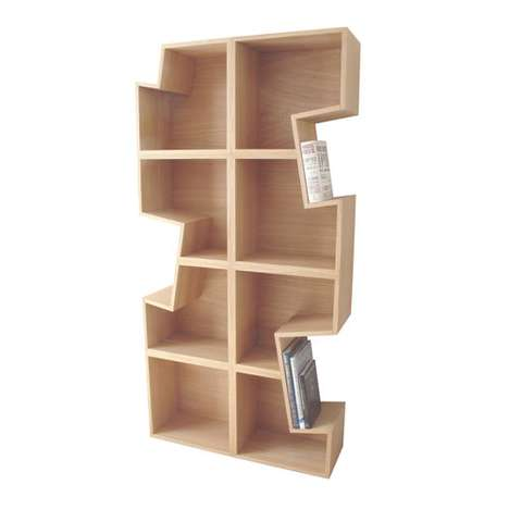 Puzzle Piece Bookshelves