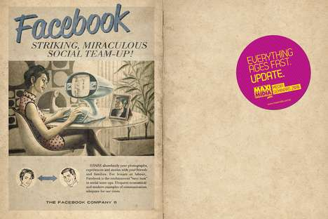 Retro Facebook Ads - These Social Media Ads by 6B Studio Brings You Back to the Days