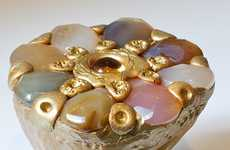 Semi-Precious Polymer Rings - Cleo and Cat Create Beautiful Sculptural Clay Rings