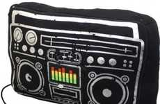 Music Player Pillows - The Boombox Speaker Cushion has a Dual Function