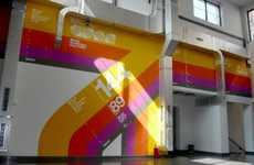 Racing Stripe Offices - Gyar Studio Decoration Wants Everyone to Look Up