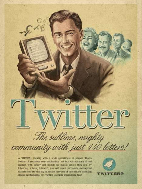 Retro Twitter Ads (UPDATE) - Moma Propaganda Releases an Addition to Retrofied Social Media Campaign