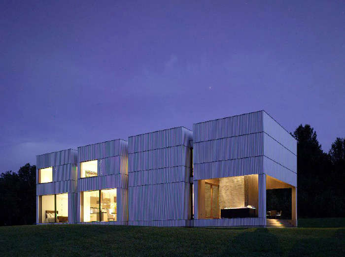 Corrugated Grid Homes