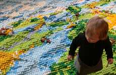 Topographical Carpets - 'Carpet' by Laurens van Wieringen Turns Foam Bars Into a Landscape