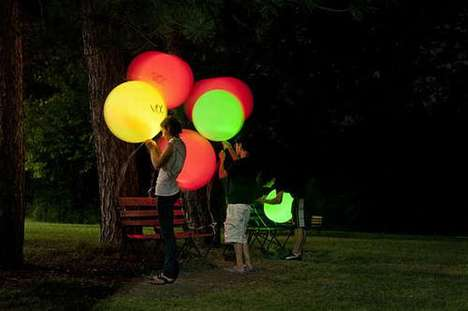Glowing LED Balloons