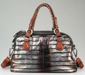Flashy Snakeskin Handbags