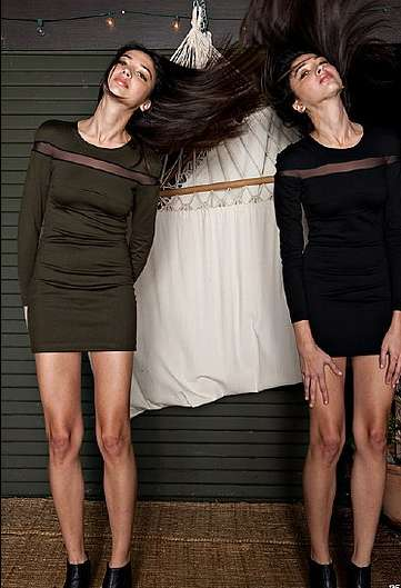 Hair-Swinging Twin Lookbooks