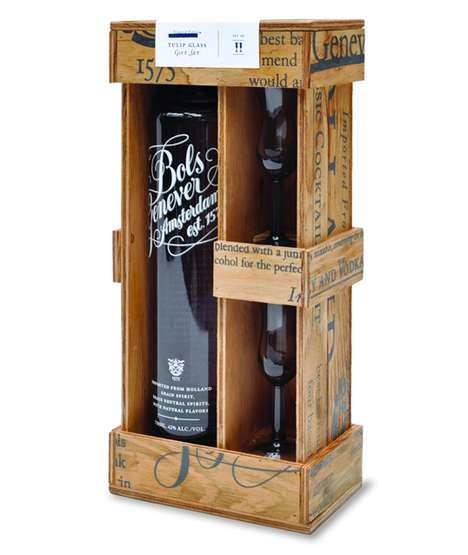 The Bols Genever Wine Crate is Handmade to Perfection