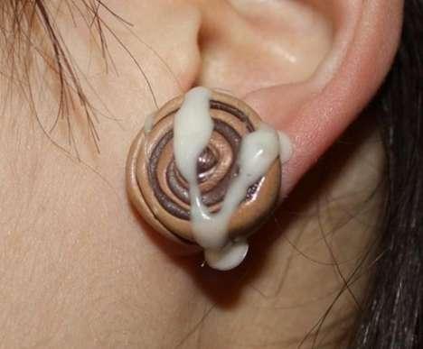 Cinnabon Ear Studs