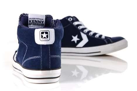 Blue Suede Skater Shoes