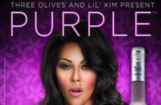 Busty Rapper Alcohol Ads - Three Olives Vodka Promotes New Three-O Purple with Lil' Kim