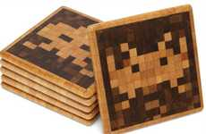 Gamer Mug Rugs - Space Invaders Coasters Keep Your Tables Safe from Watery Aliens