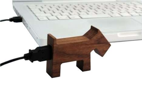 Wooden Pet Peripherals - The Hacoa Animal USB is for Puppy Lovers