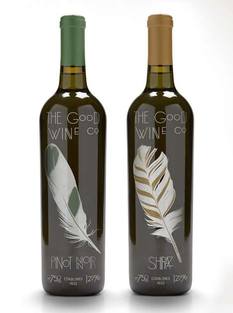 Fancy Feathered Bottles