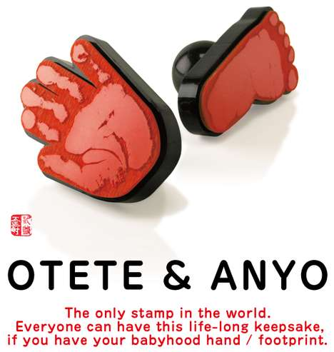 Personalized Baby Prints - 'Otete & Anyo' by Rezon Turn Your Infant's Hands & Feet Into Stamps