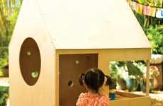 Wooden Toy Homes - The 'Wedge House' and the 'Circle House' by Modern Playhouse