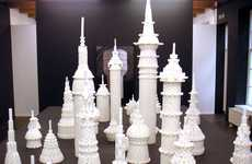 Sugar Cube Sculptures - Lionel Scoccimaro Constructs Buildings, Water Towers and Igloos
