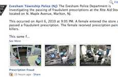 Social Media Mug Shots - The Evesham Police Department Post Perpetrators to Facebook Page