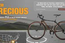 Social Media Charity Cycles - Precious the Tweeting Bike Raises Money for Livestrong