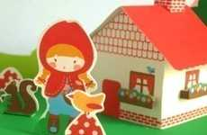 Printable Toys - Maria Lunate's 'Little Red Paper House Set' is a PDF File