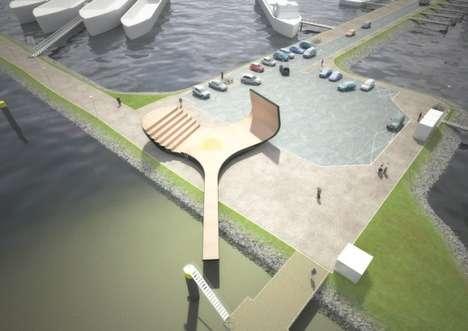 Rotating Public Pavilions