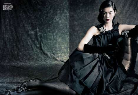 Dainty Dame Editorials - The Liu Wen Vogue China Editorial is Glamorous