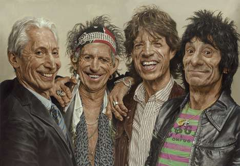 Pop Star Impressionist Portraits