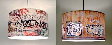 The Graffiti Pendant Lamp Brings Decorating to the Streets
