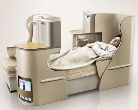 Business Class Bedrooms - The Asiana Airlines OZ Quadra Smartium is an Airborne Room