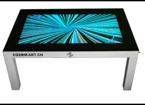 Multitouch Side Tables - The Cosmikart Digital Coffee Table Reuses an Old iBook G4