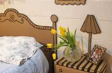 2D Guest Rooms - Nikki of Whimsy Love Creates Cute Custom Cardboard Furniture