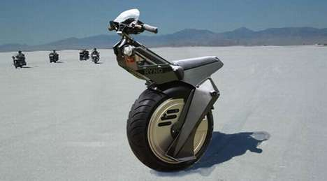 One-Wheeled Motorcycles - The Ryno Bike is Inspired by a Video Game