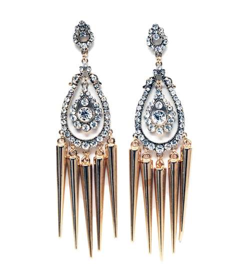 The Luxirare Spike Drop Earrings are Heavenly and Unique