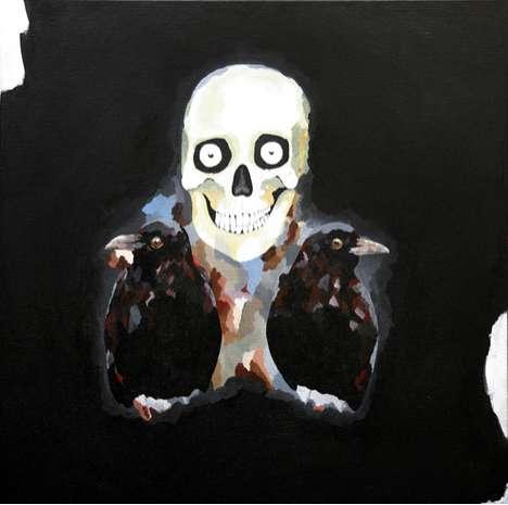Surrealist Cranium Paintings