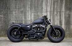Modified Muscular Motorbikes - The 'IRON 883 Guerilla' is a Revamped Version of a Harley Davidson