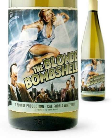 Retro Graphic Wine Labels