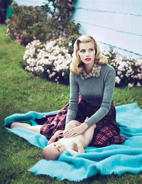 Mad Men-Inspired Fashions - The Gorgeous Lara Stone by Mert & Marcus Vogue US Spread