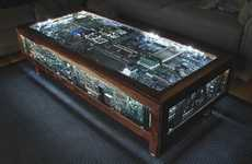 Circuit Board Furniture - Dmaloney Makes a Coffee Table Out of Computer Parts