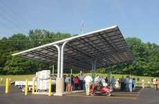 Power Station Parking Lots - The Solar Parking Lot Lets You Plug-In and Charge Your EV for Free