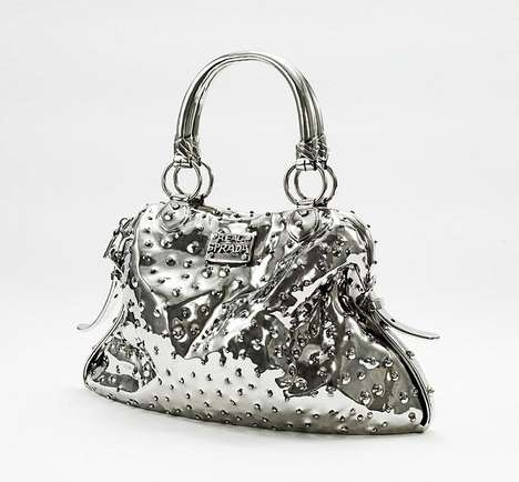 Hot Silver Handbag Sculptures