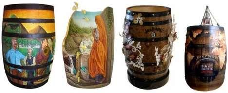Artistic Booze Barrels