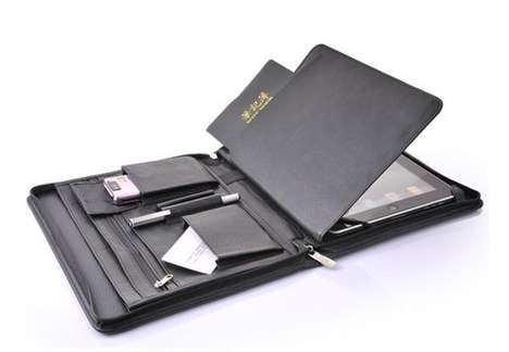 The Portfolio iPad Leather Case is Sleek and Professional