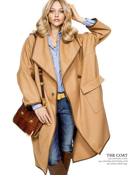 Classic Camel Coats - H&M Magazine Brings Back Brown for Fall